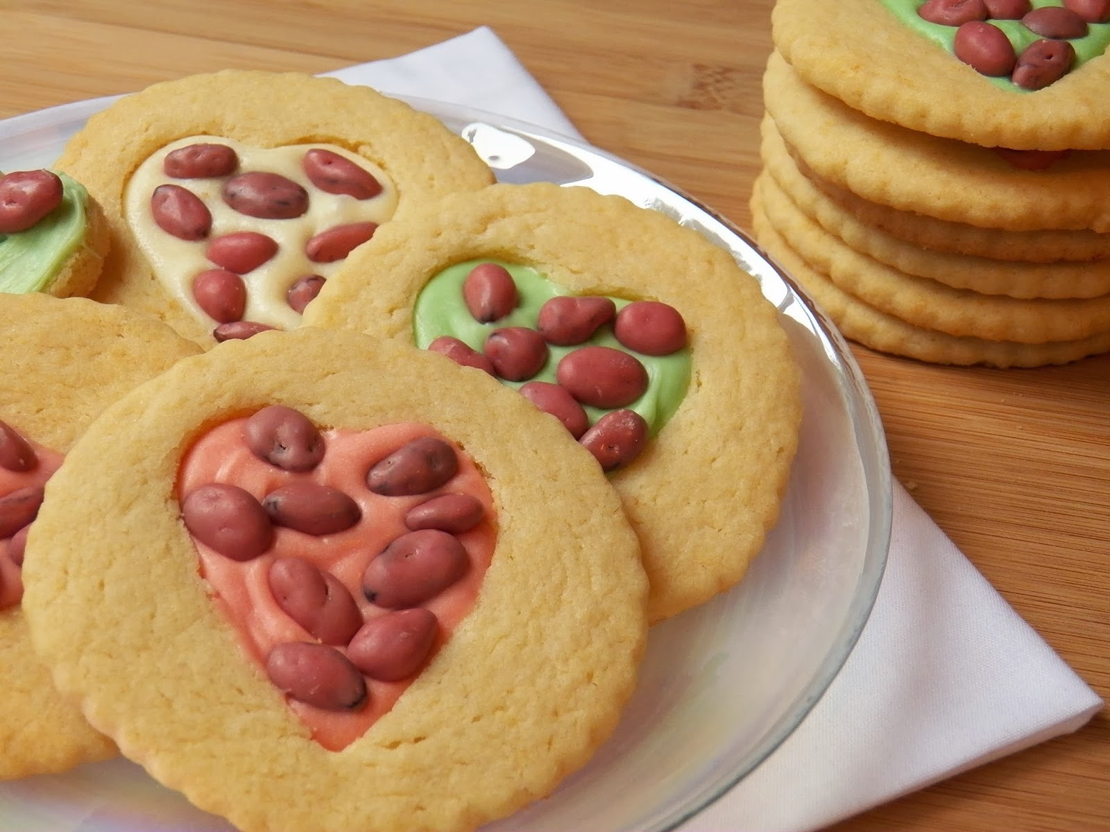 Valentine Heart Sugar Cookies