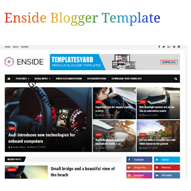 Enside blogger template latest version