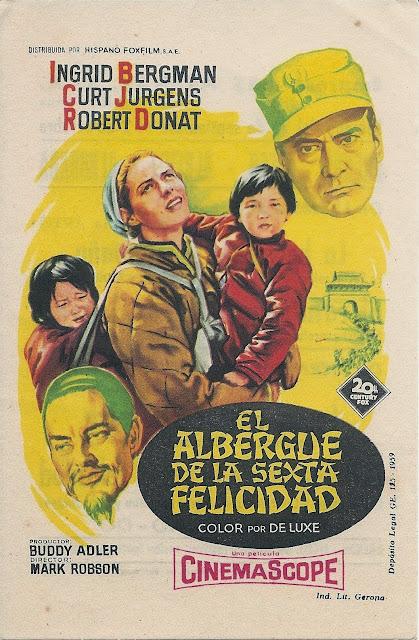 Programa de Cine - El Albergue de la Sexta Felicidad - Ingrid Bergman - Curd Jurgens
