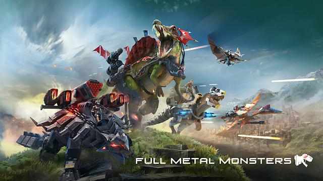 Berapa Total Size Game Full Metal Monsters  Android – Dinosaurus`Lapis Logam