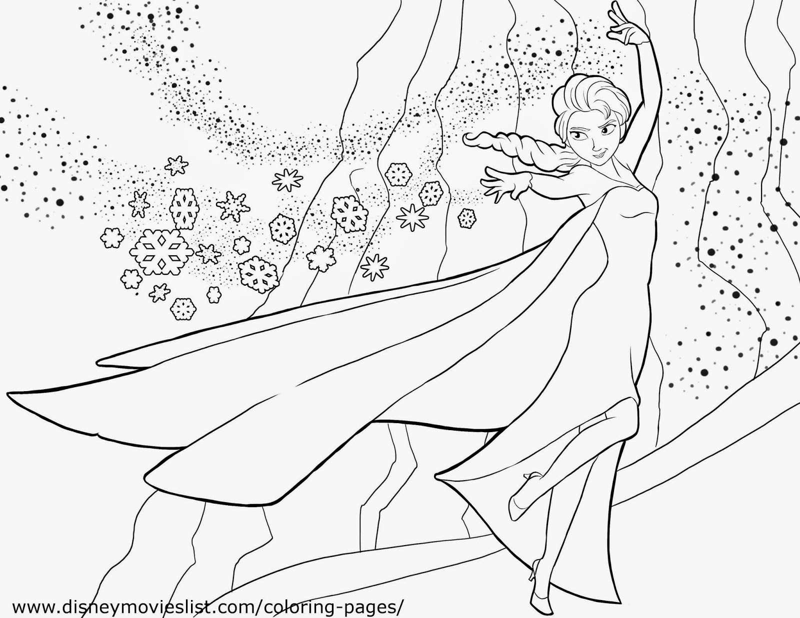 Frozen: Imágenes de Elsa para colorear, para Imprimir Gratis ...