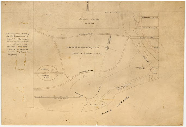 ca. 1848 John Howard: Plan for the Western Park - west of Garrison Creek