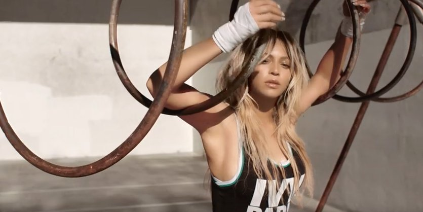 Beyonce just gave consumers a first look at her new fitness clothing line, Ivy Park.