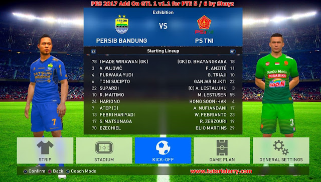 PES 2017 Liga 1 Gojek Traveloka Add On V1.1 untuk PTE 5 & PTE 6