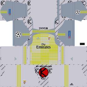 SL Benfica 2018/19 UCL Kit - Dream League Soccer Kits