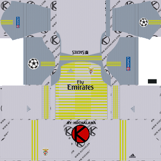SL Benfica 2018/19 UCL Kit - Dream League Soccer Kits