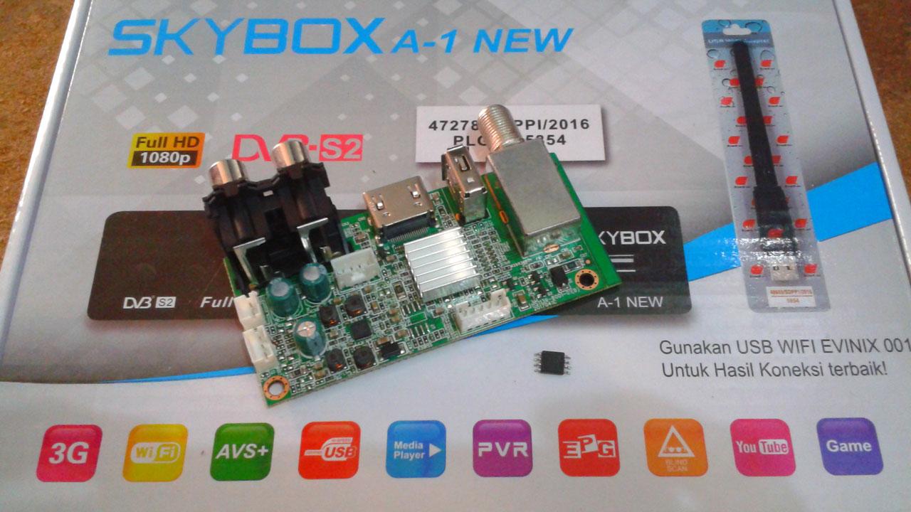 Cara Upgrade Receiver Skybox A1 AVS+ 4MB ke 8 MB