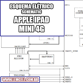 Esquema Elétrico Smartphone Ipad Mini 4G Celular Manual de Serviço   Service Manual schematic Diagram Cell Phone Smartphone Celular Ipad Mini 4G      Esquematico Smartphone Celular Ipad Mini 4G