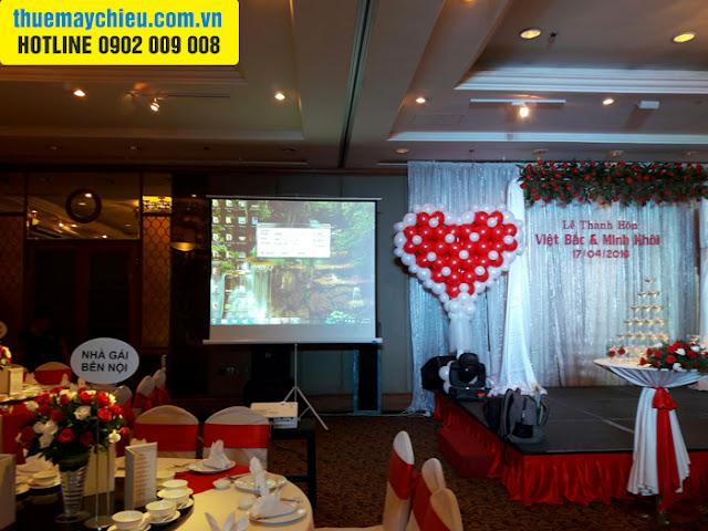 VNPC cho thuê máy chiếu tổ chức tiệc cưới tại TpHCM