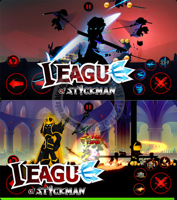 Download League Of Stickman Mod v2.3.2 Mod unlimited Skill And money Diamond Apk Terbaru