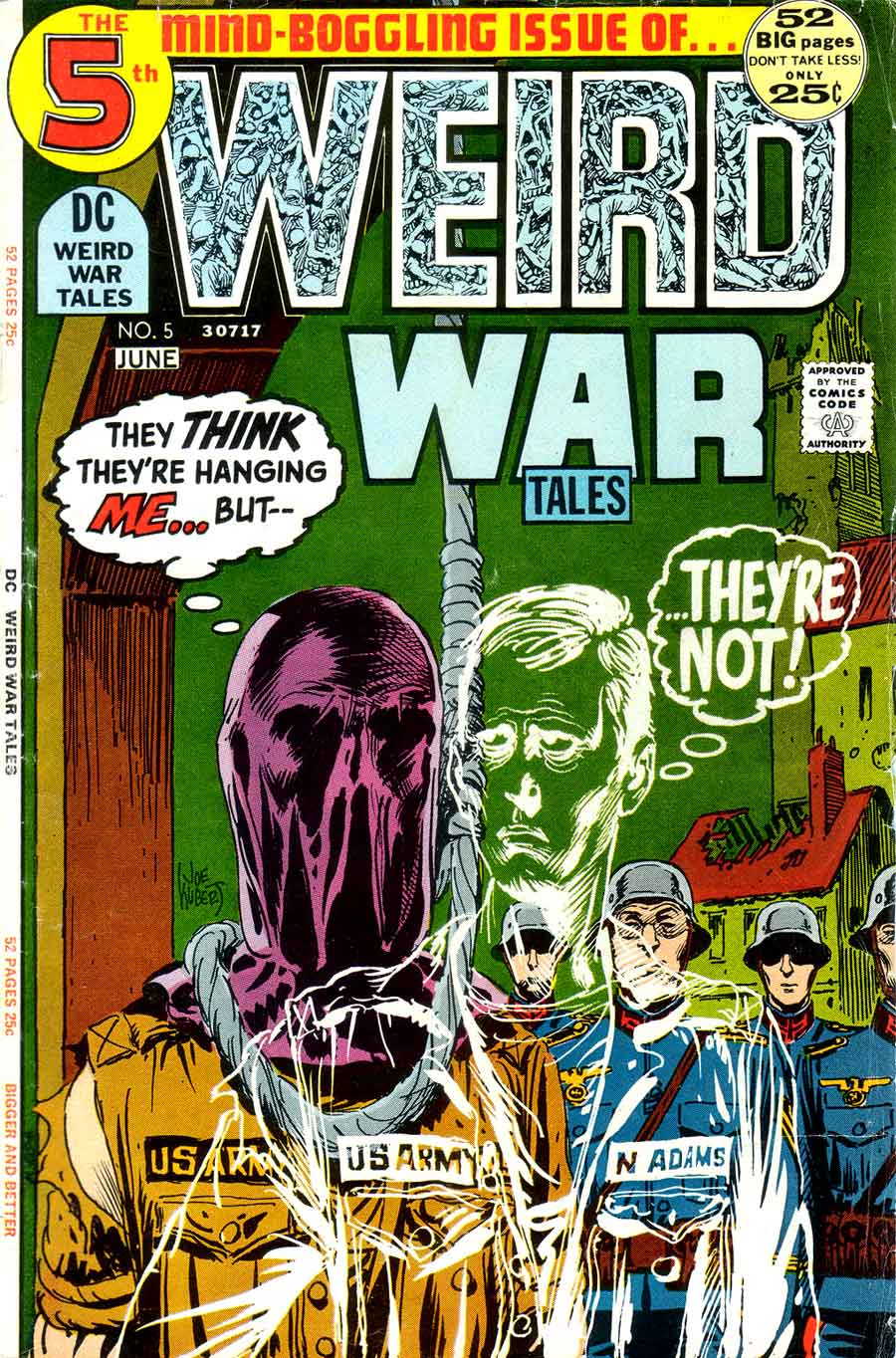 Weird War Tales v1 #5 dc bronze age comic book cover art by Joe Kubert