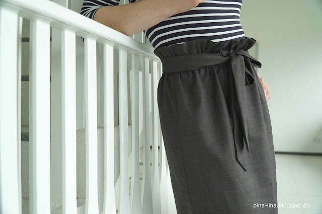 Sew a paperbag waist skirt - fast and easy, no pattern needed