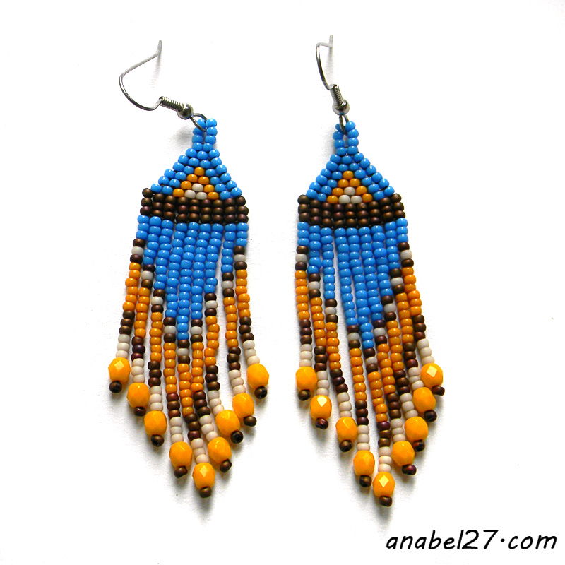 seed bead earrings beadwork jewelry beading earrings