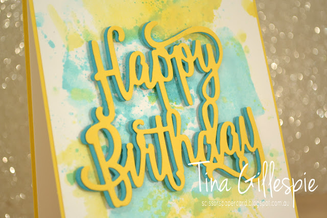 scissorspapercard, Stampin' Up!, Art With Heart, Colour Creations, Happy Birthday Gorgeous, Playful Backgrounds, Happy Birthday Thinlit