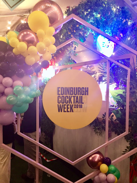 Edinburgh Cocktail Week sign in the Cocktail Village