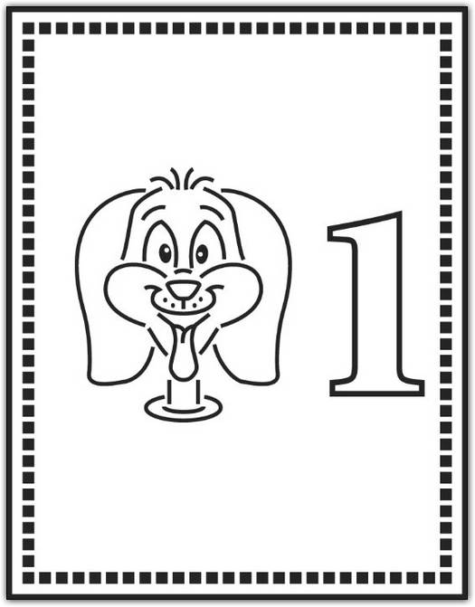 Free Coloring Pages Printable: Fun Number One Coloring Pages