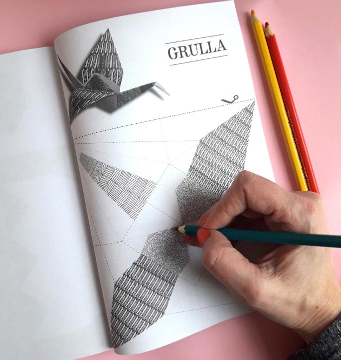 Arteterapia ♥ Origami para colorear / Origami al alma
