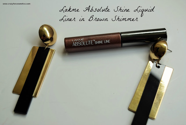 Lakme Absolute Liquid Liner in Brown Shimmer Review, Swatches