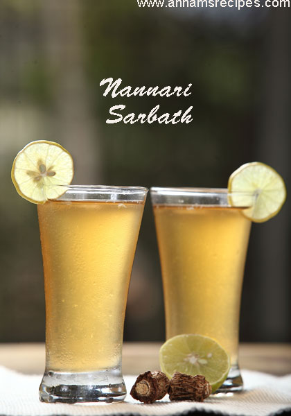 Nannari Sarbath / Home made Nannari Syrup