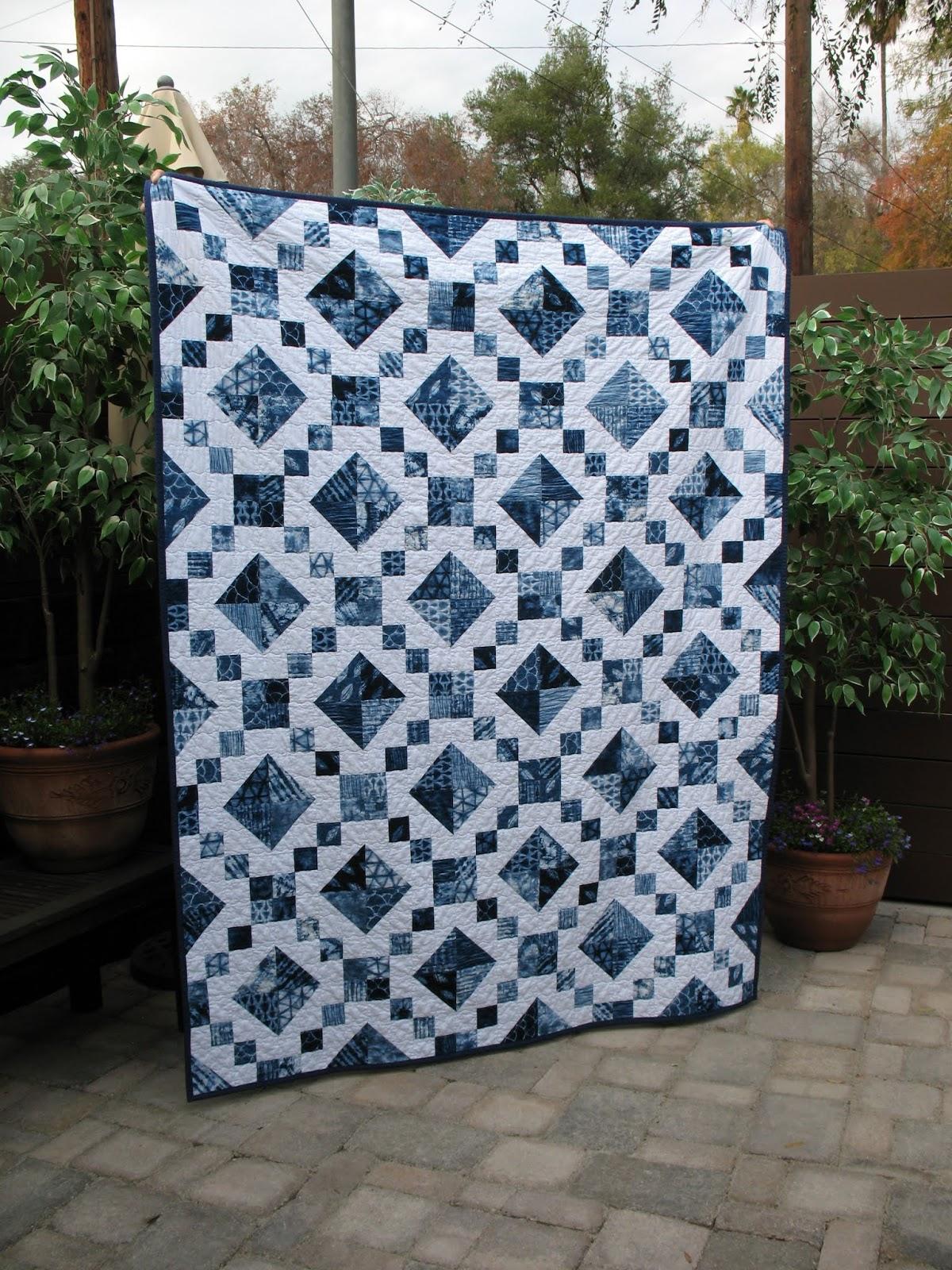 Ye Olde Sweatshop Jewel Box Quilt Shibori Style 102