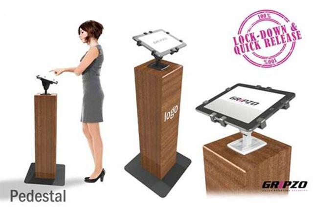 服務及招待客戶的場所需使用Gripzo,平板防盜架,平板電腦防盜鎖架
