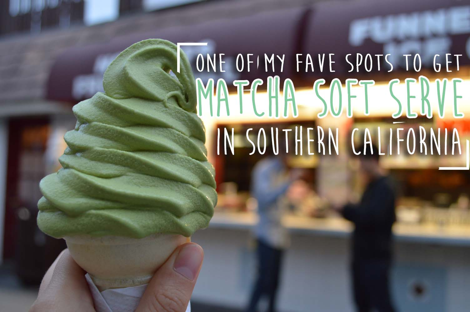 IN LOVE WITH THE MATCHA SOFT SERVE @ ORIENTAL BREEZE - REDONDO BEACH PIER