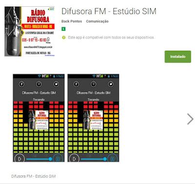 App Difusora - Estúdio S I M