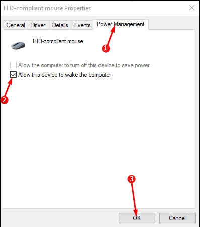 Method to Allow Mouse/Keyboard to Wake Computer on Windows 10