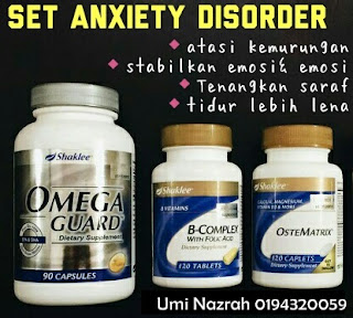 anxiety disorder shaklee