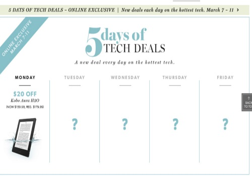 Chapters Indigo 5 Days of Tech Deals