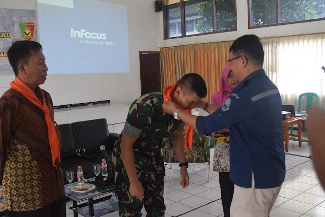 Yonzipur 9 Kostrad Latih Edukasi Mitigasi Bencana Kepada Pelajar di Bandung