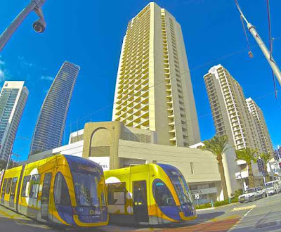 Novotel Surfers Paradise and Light Rail Trams