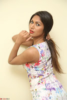 Nishi Ganda stunning cute in Flower Print short dress at Tick Tack Movie Press Meet March 2017 021.JPG