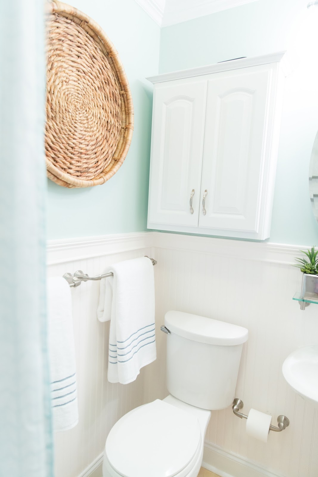 Tiny, dark bathroom renovation with Devine Colors at Target