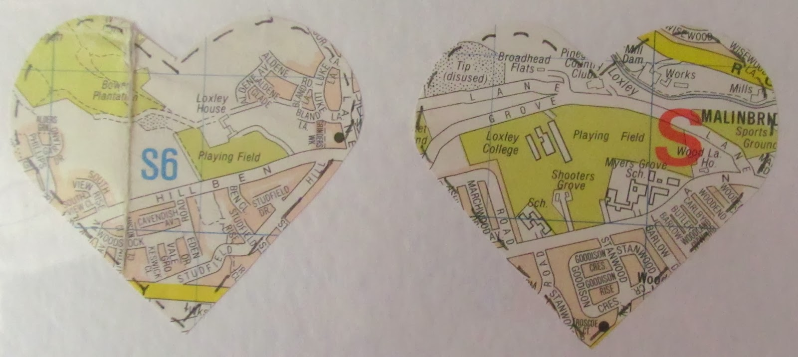 map valentine card idea
