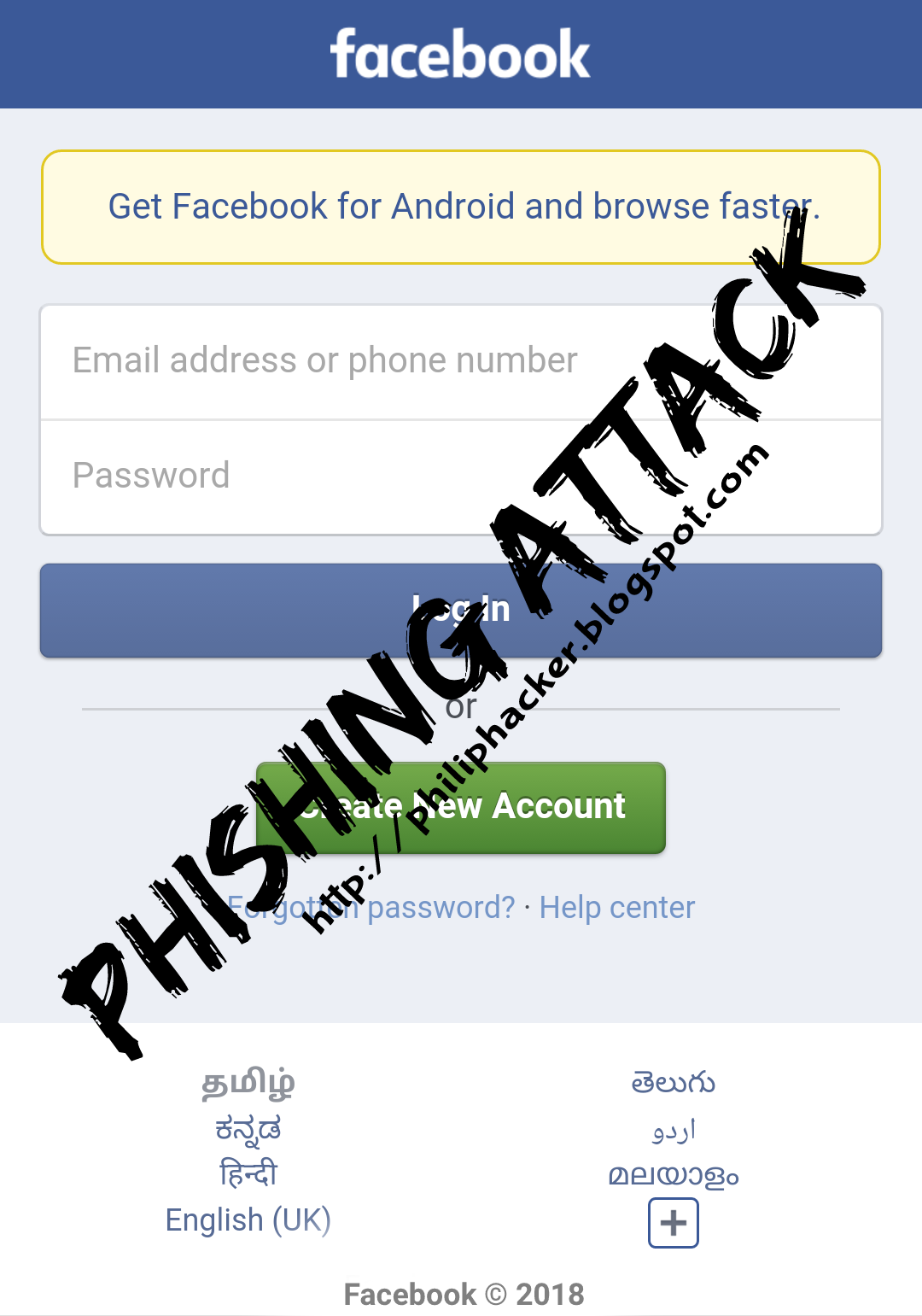 Facebook (Phishing Method) Tutorial - 2018