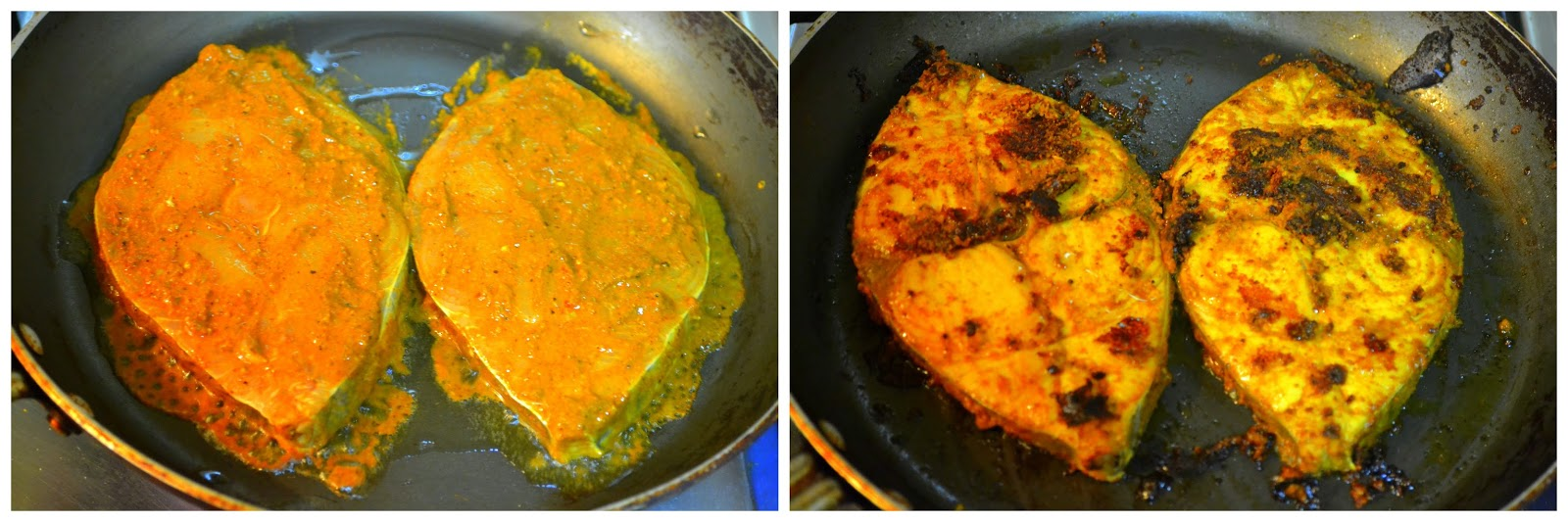 Chettinad vanjaram meen varuval chettinad seer fish fry for Best oil to fry fish