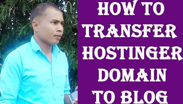 Transffer your hostinger domain in your blog