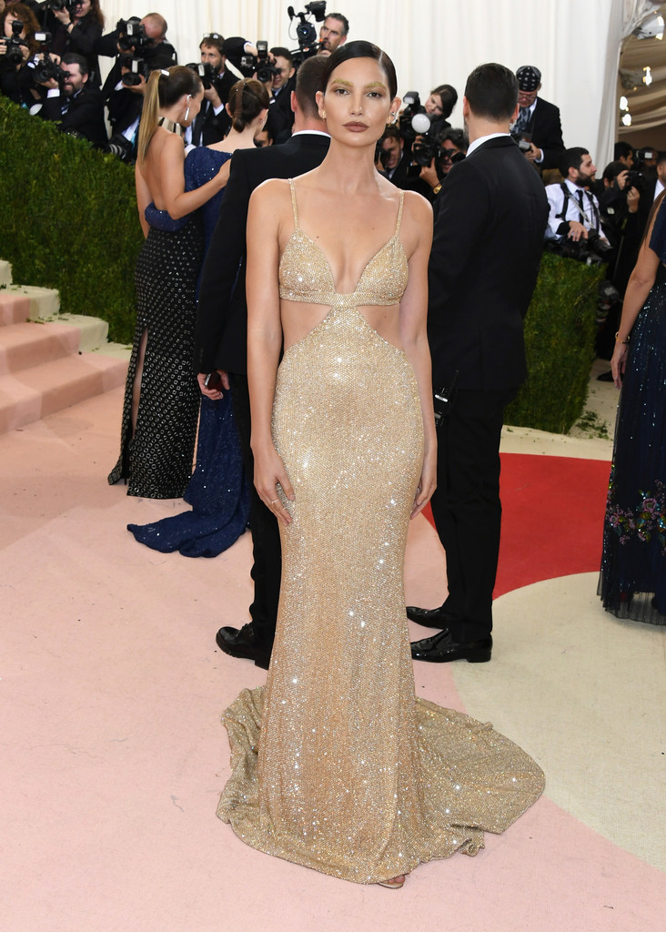 Lily Aldridge at the 2016 MET Gala