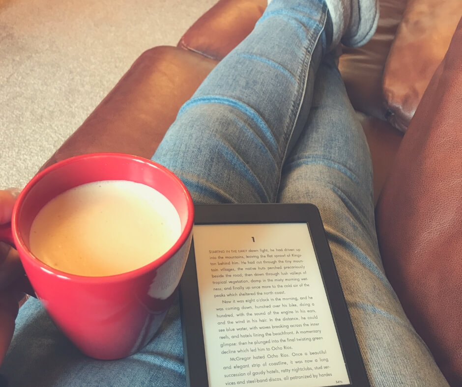 How I Take Care Of Myself A Little Every Day | Coffee and a good book, with my feet up - now that's the life!