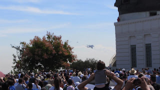 Space Shuttle Endeavor as seen from Griffith Observatory