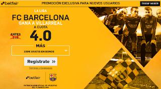 betfair supercuota 4 Barcelona gana Villarreal Liga 6 mayo