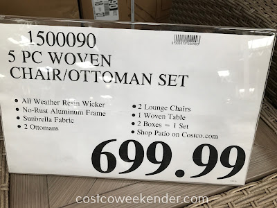Deal for the Woven Chair/Ottoman Set (5 piece) at Costco