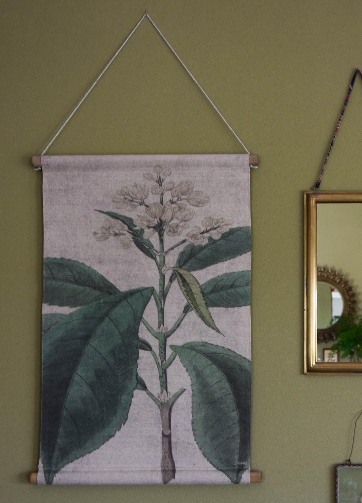Botanische Bildtafel Wand Deko Wohnzimmer