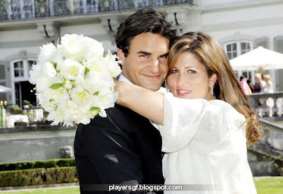 Roger Federer and his girlfriend Mirka Vavrinec