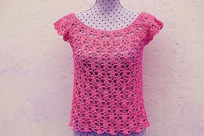 5 - Crochet Imagen Blusa de mujer a crochet muy rapido y facil de hacer a ganchillo. Majovel Crochet.