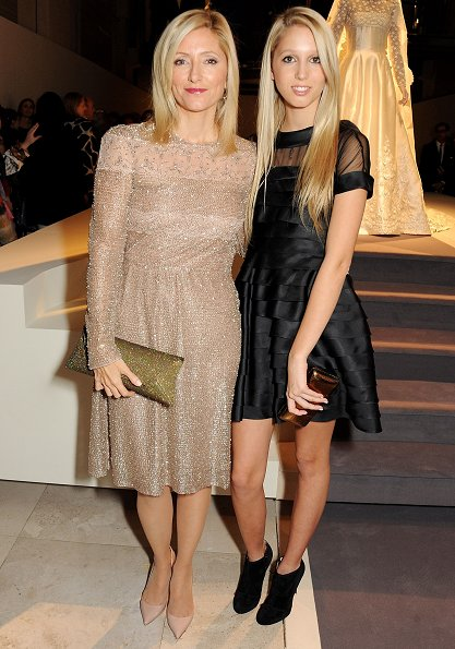 Princess Marie Chantal and Princess Olympia of Greece attended the VIP view of Valentino at Embankment Gallery