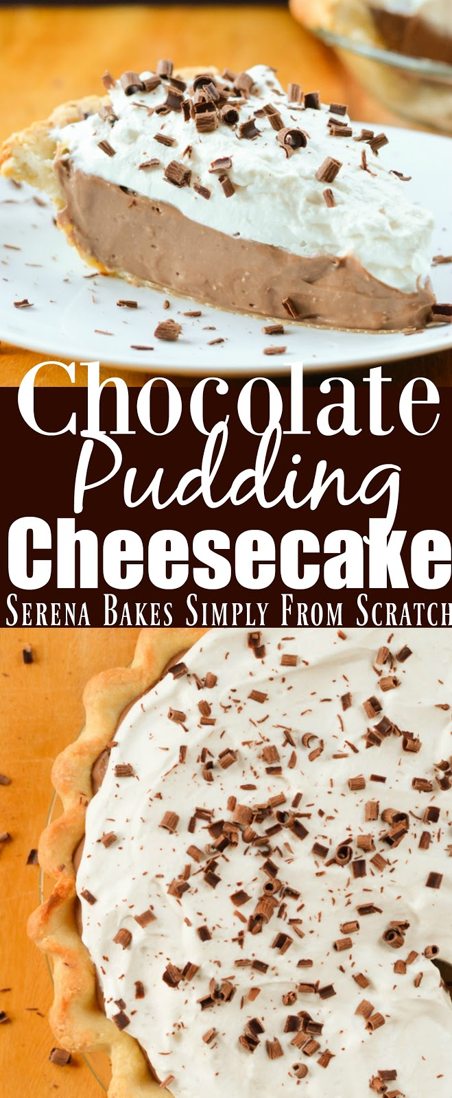 Chocolate Pudding Cheesecake recipe is the ultimate chocolate lovers dessert.