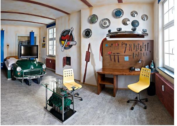 wonderful car themed bedroom | love my car: 50 Ideas For Car Themed Boys Rooms