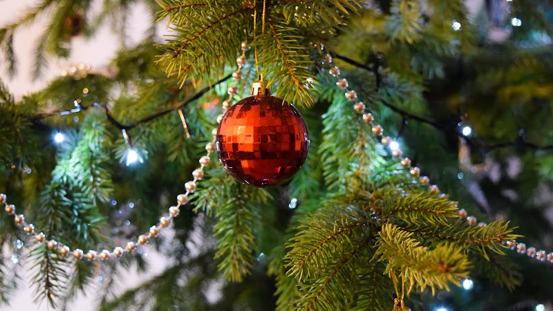 5th Christmas Balls in Tree HD